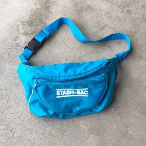 Vintage fanny pack blue stash sac